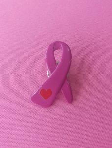 Love Pink Ribbon Pin - RM12.00